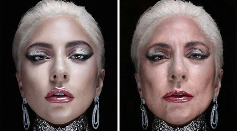 Lady Gaga en FaceApp